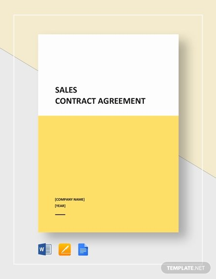 Sales Agreement Template Word Inspirational Sales Agreement Template 22 Word Pdf Google Docs