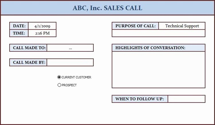 Sales Call Log Template Inspirational Free Data Collection Templates On Excel Sales Call Log
