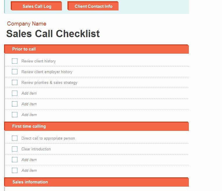 Sales Call Log Template Inspirational Sales Call Log