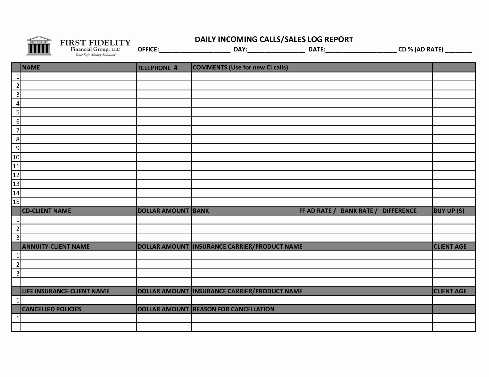 Sales Call Log Template Lovely Best S Of Daily Log Examples Daily Log Book