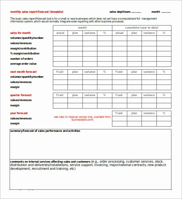 Sales Call Report Template Excel Beautiful 32 Monthly Sales Report Templates Word Pdf Google