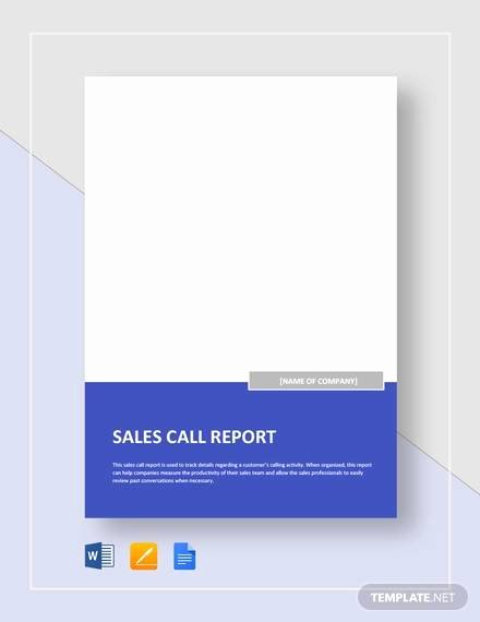 Sales Call Report Template Excel Elegant Sample Sales Call Report 14 Documents In Pdf Word