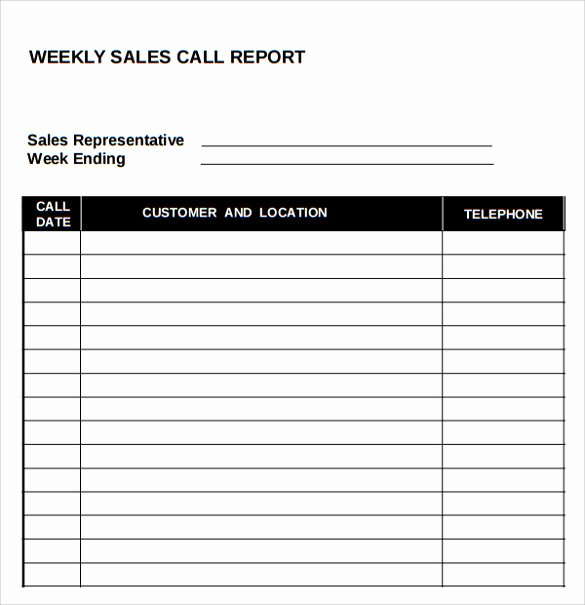 Sales Call Report Template Excel Unique Sample Sales Call Report 14 Documents In Pdf Word