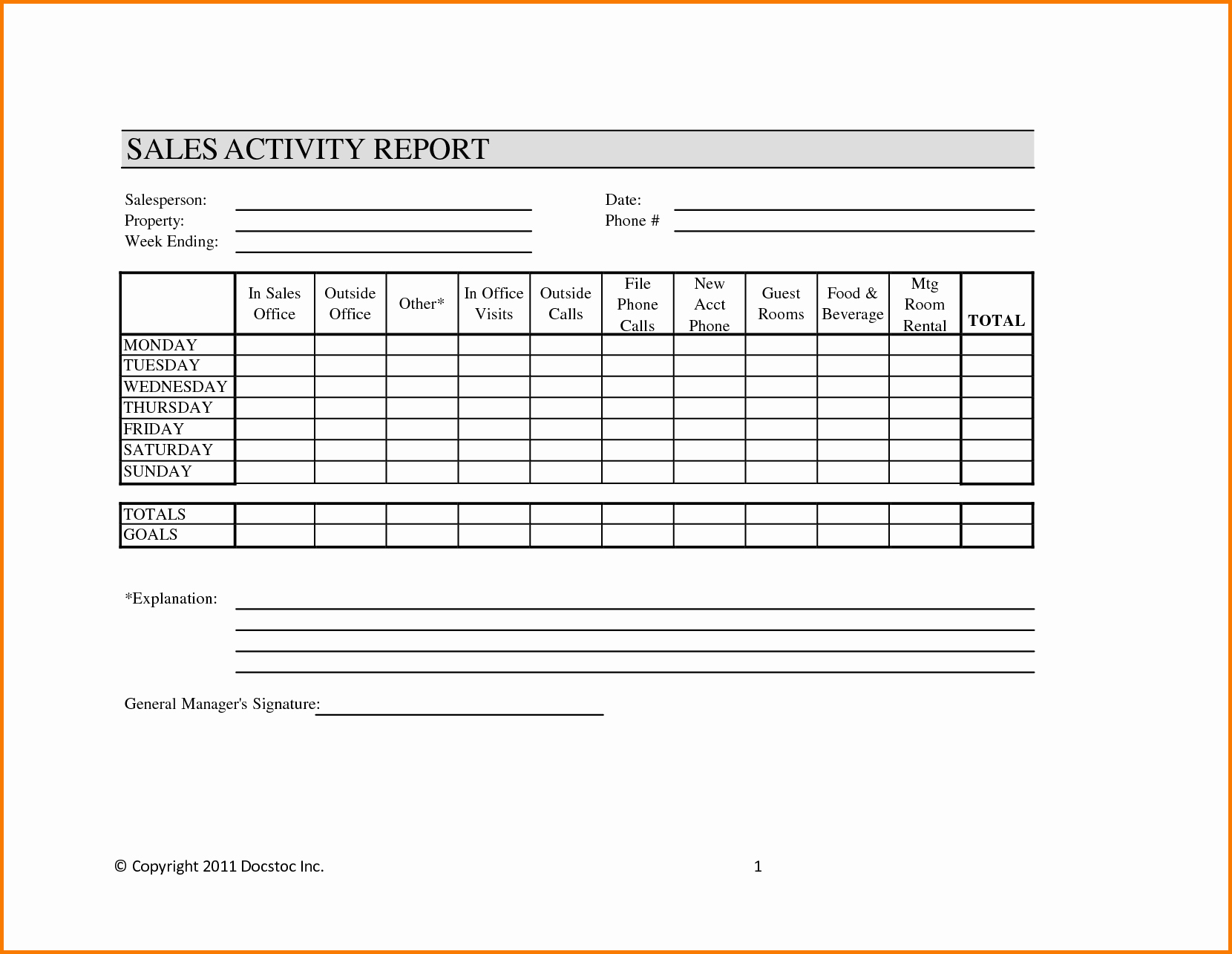Sales Call Report Template Luxury 29 Of Call Report Template Monthly