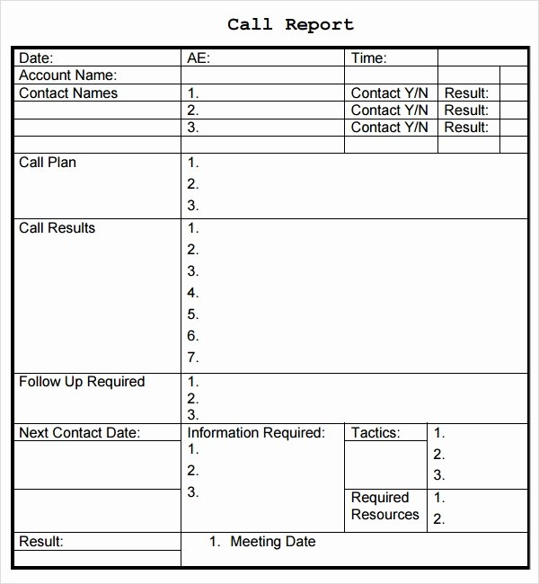 Sales Call Report Template Luxury Sales Report Template 9 Free Pdf Doc Download