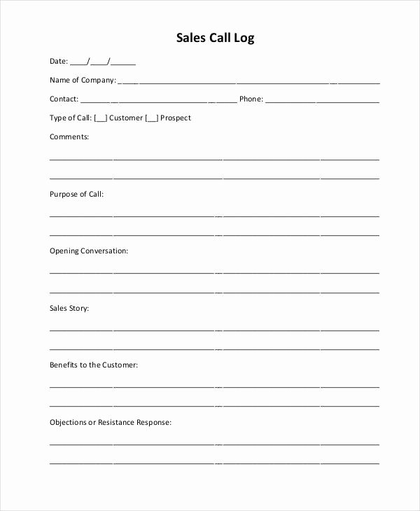 Sales Call Report Template Unique Sales Call Report Template 12 Free Word Pdf Apple