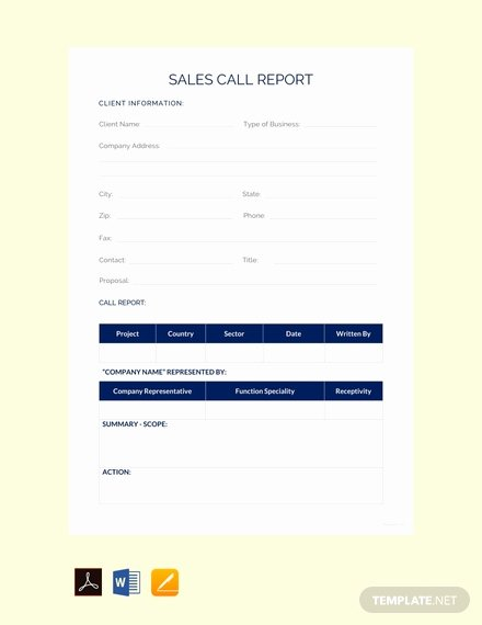Sales Calls Report Template Beautiful Free Sales Activity Report Sample Template Download 281