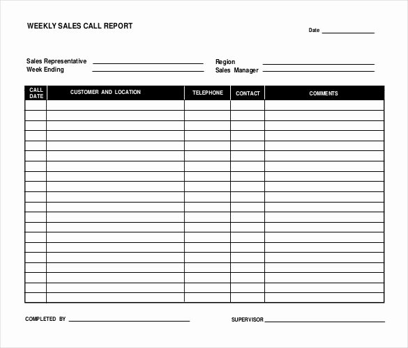 Sales Calls Report Template Best Of 16 Sales Report Templates Docs Pages Pdf Word