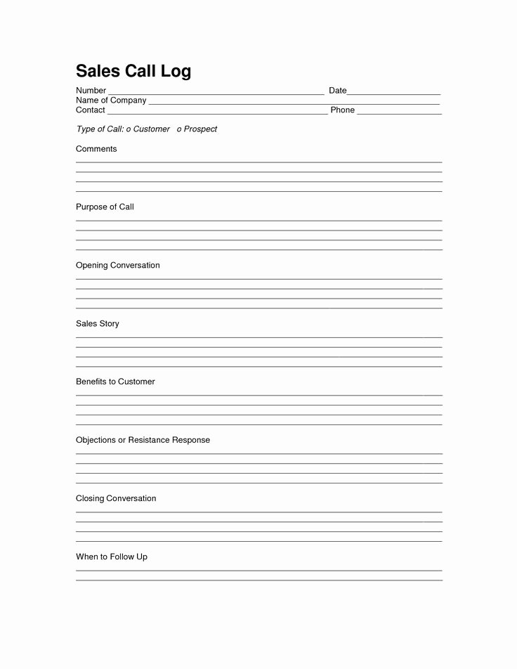 Sales Calls Report Template Lovely Sales Log Sheet Template Sales Call Log Template