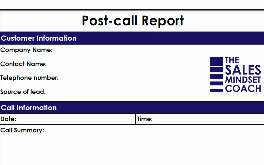 Sales Calls Report Template Luxury Sales Execution Archives Page 2 Of 4 the Sales Mindset