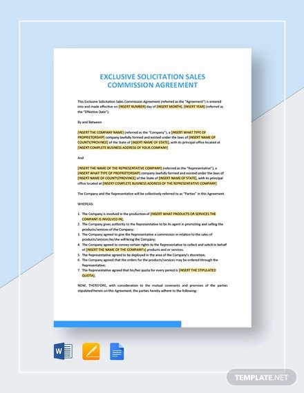 Sales Commission Agreement Template Fresh 22 Mission Agreement Templates Word Pdf Pages