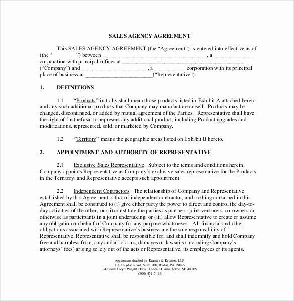 Sales Commission Agreement Template Lovely 12 Mission Agreement Templates Word Pdf Apple
