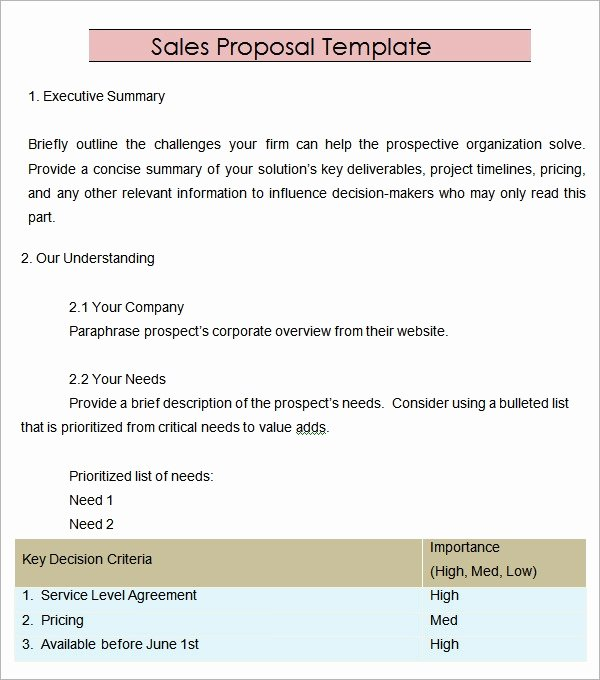 Sales Contract Template Word Awesome Free 20 Sample Sales Proposal Templates In Pdf