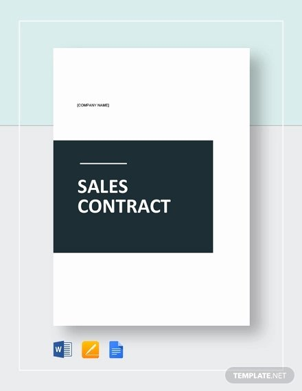 Sales Contract Template Word Beautiful 23 Sales Contract Templates Word Pdf Google Docs