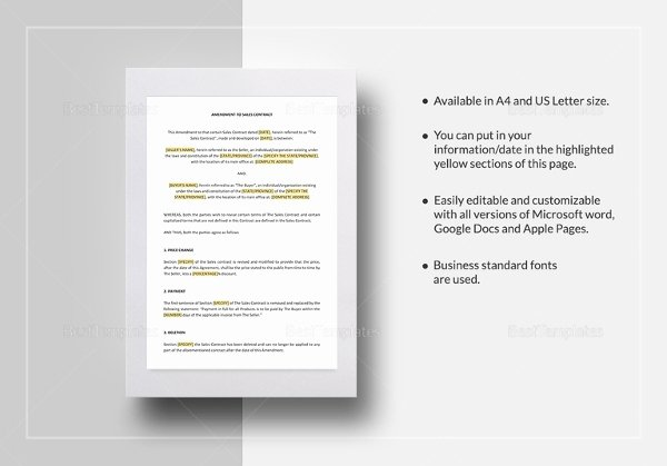 Sales Contract Template Word Best Of 23 Sales Contract Templates Word Pdf Google Docs
