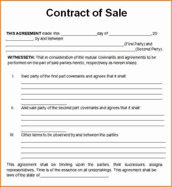 Sales Contract Template Word Best Of Sales Contract Template Word