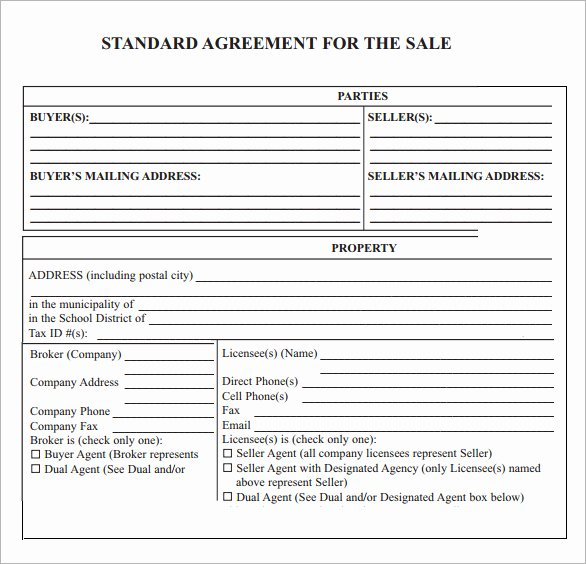 Sales Contract Template Word New Sales Agreement Template Word