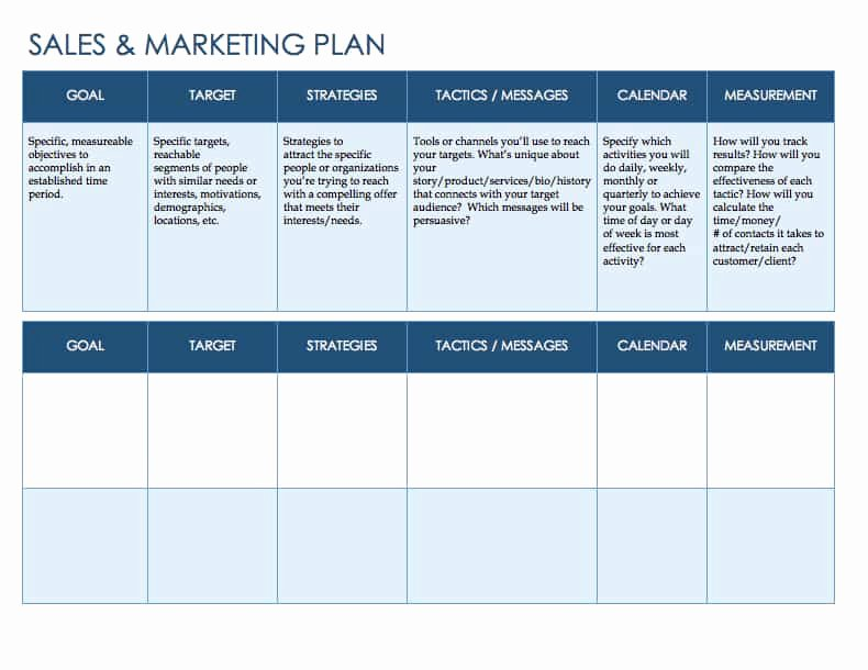 Sales Plan Template Word Beautiful Free Sales Plan Templates Smartsheet