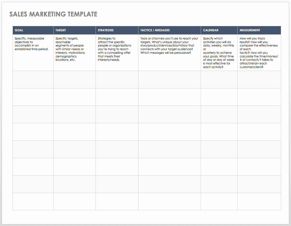 Sales Plan Template Word Inspirational Free Sales Pipeline Templates