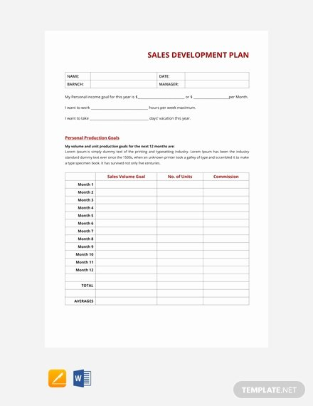 Sales Plan Template Word Lovely 63 Free Sales Plan Templates Pdf Word