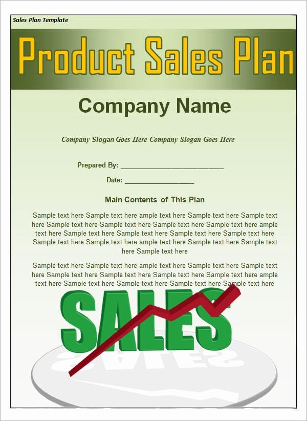 Sales Plan Template Word Lovely Free 22 Sales Plan Templates In Pdf Rtf Ppt