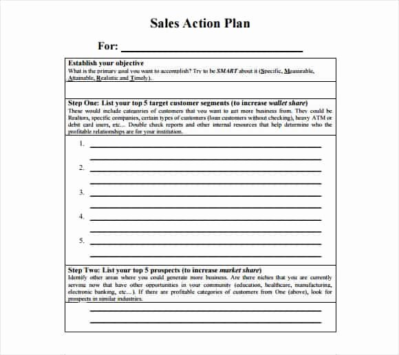 Sales Plan Template Word Unique Free Sales Plan Templates Free Printables Word Excel