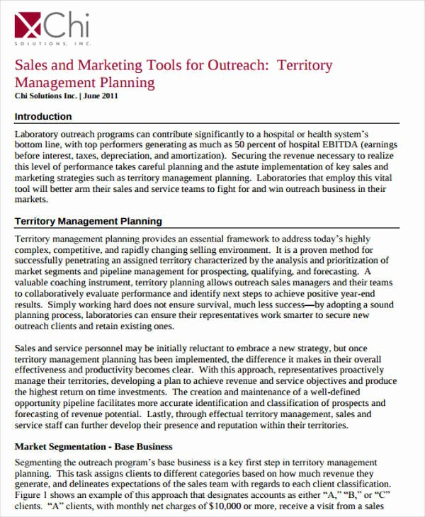 Sales Territory Plan Template Luxury 43 Sample Sales Plans Word Pdf Docs