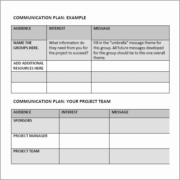 Sample Communication Plan Template Lovely Free 17 Samples Of Munication Plan Templates In Pdf