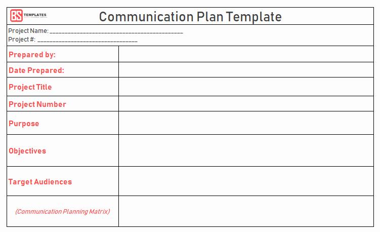 Sample Communication Plan Template Lovely Project Munication Plan Template Excel & Pdf