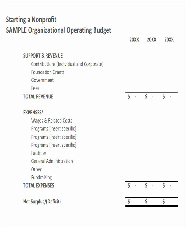 Sample Nonprofit Budget Template Best Of 12 Non Profit Bud Templates Word Pdf Excel Google