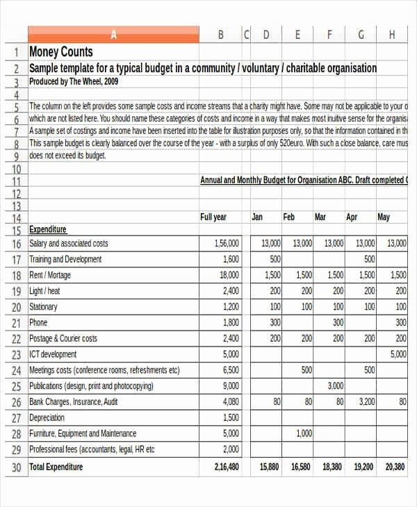 Sample Nonprofit Budget Template Inspirational 12 Non Profit Bud Templates Word Pdf Excel Google