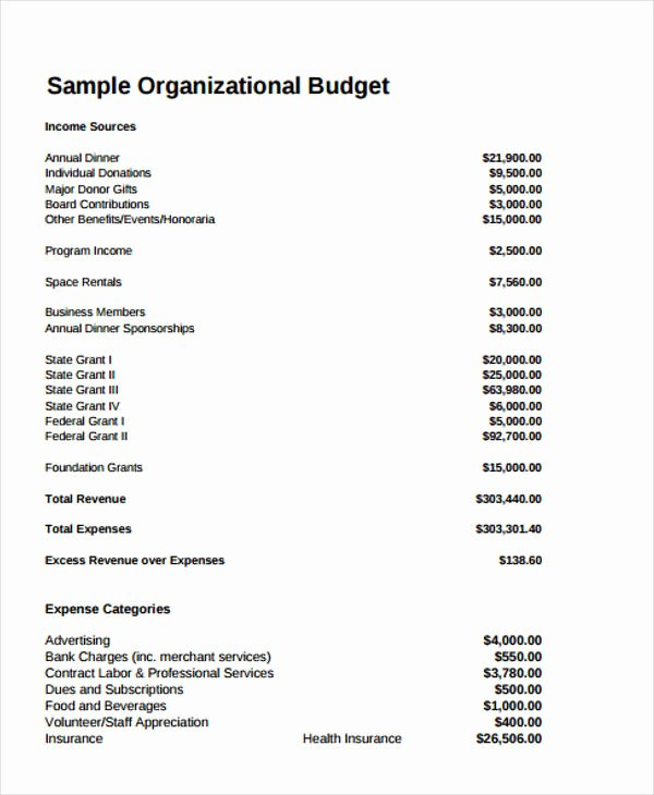 Sample Nonprofit Budget Template Lovely 12 Non Profit Bud Templates Word Pdf Excel Google