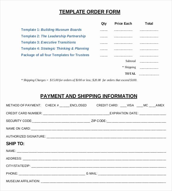 Sample order form Templates Lovely 21 order form Templates – Free Sample Example format