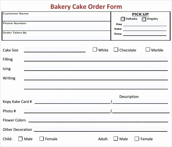 Sample order form Templates New Sample Cake order form Template 16 Free Documents