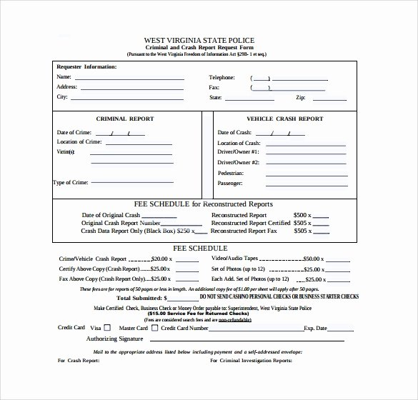 Sample Police Report Template Fresh Free 7 Sample Police Reports In Word