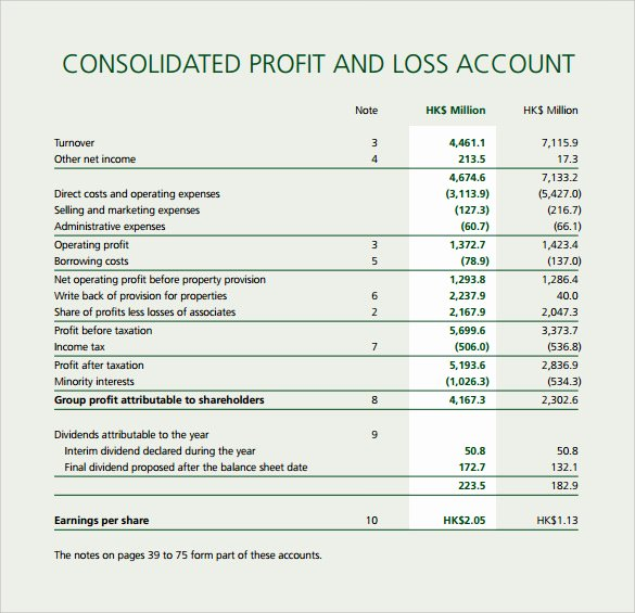 Sample Profit and Loss Template New Free 21 Sample Profit and Loss Templates In Google Docs
