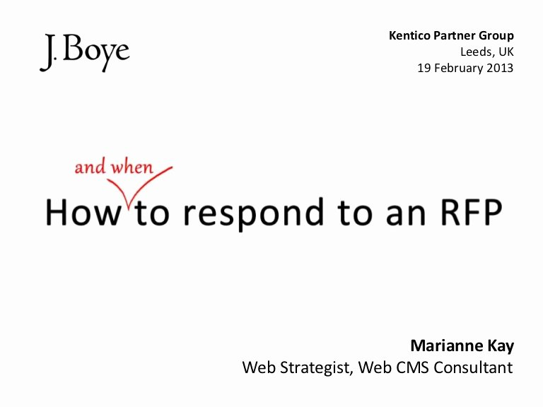 Sample Rfp Response Template Awesome How to Respond to An Rfp