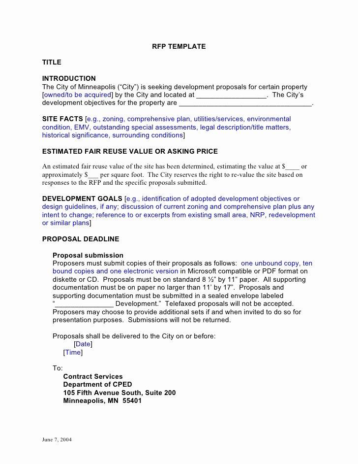 Sample Rfp Response Template Best Of Rfp Template Developmentcc
