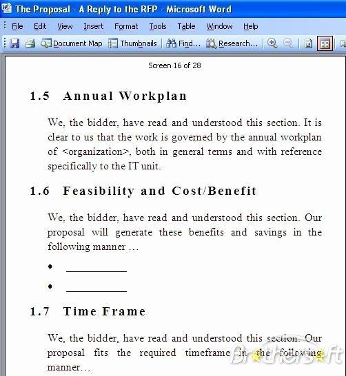 Sample Rfp Response Template Elegant Download Free Rfp Response Template Rfp Response Template