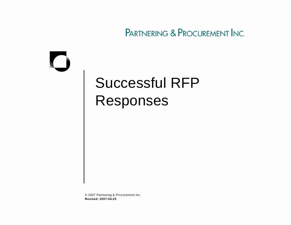 Sample Rfp Response Template Elegant Successful Rfp Responses