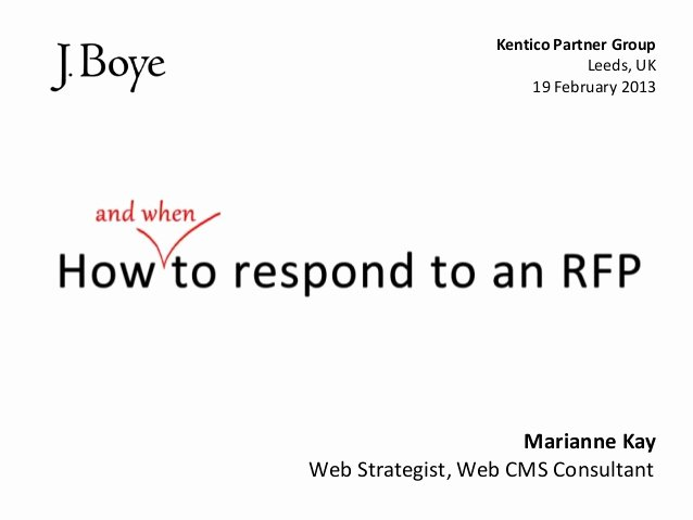 Sample Rfp Response Template Inspirational How to Respond to An Rfp