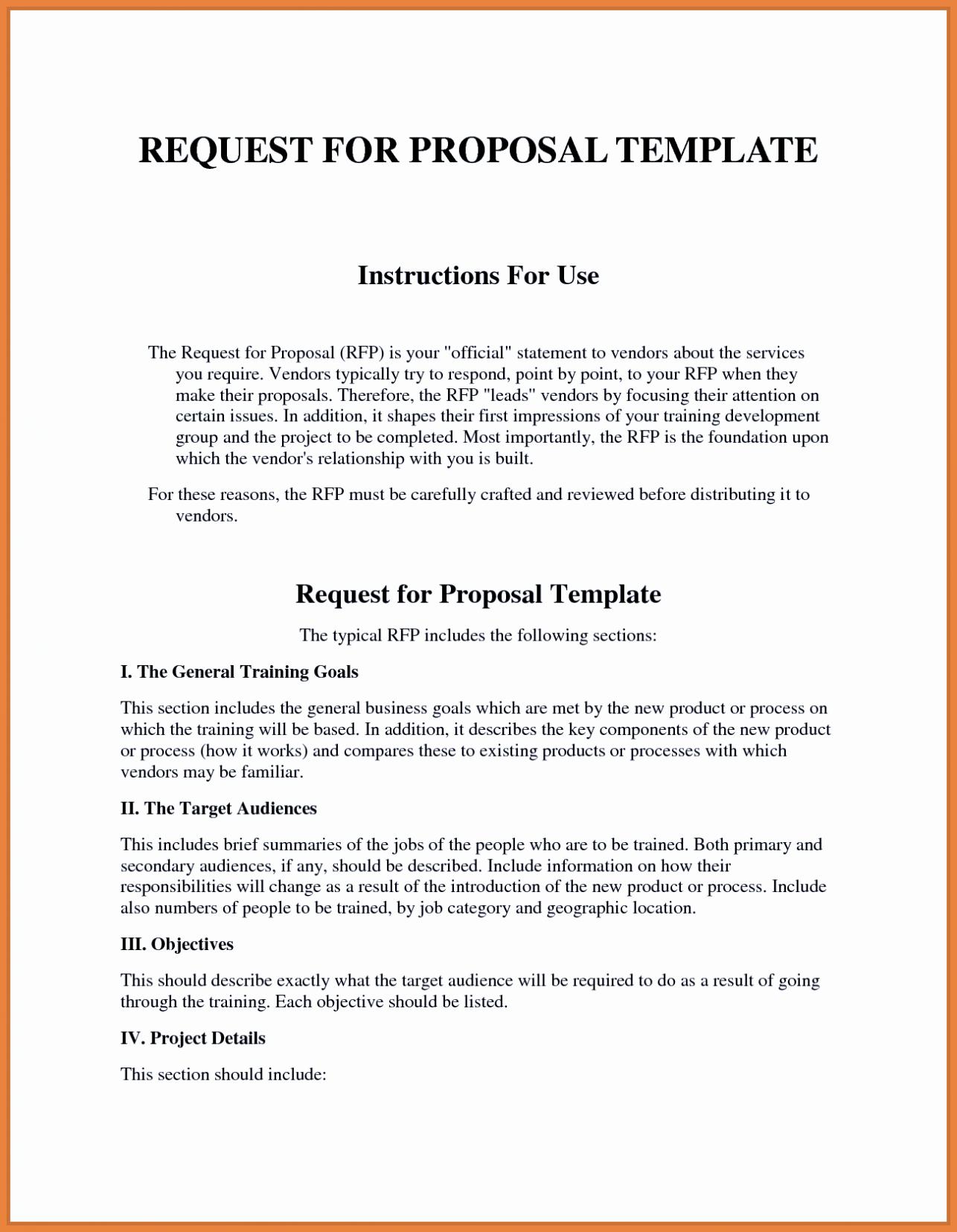 Sample Rfp Response Template Inspirational Sample Rfp Response Template Information Technology Example