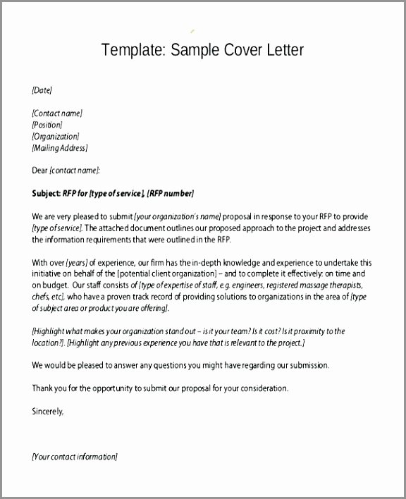 Sample Rfp Response Template Lovely 7 Rfp Response Template Word Uaate