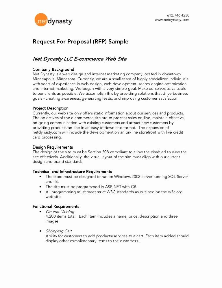 Sample Rfp Response Template Luxury Net Dynasty Rfp Sample