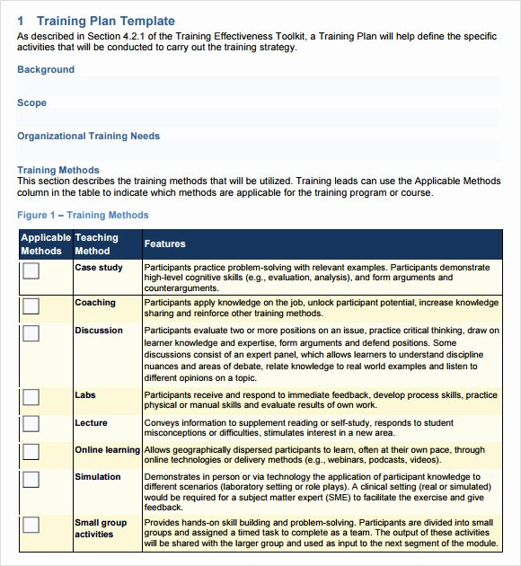 Sample Training Plan Template Elegant Training Outline Template 9 Download Free Documents In