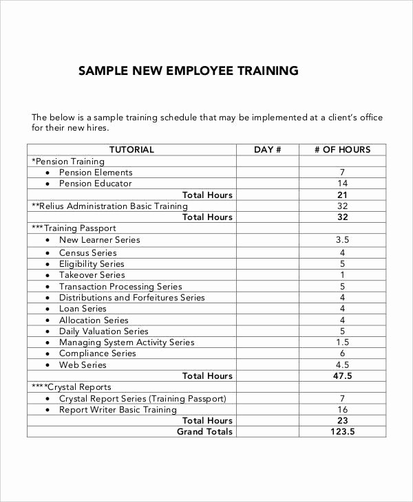 Sample Training Plan Template Unique 6 Employee Training Plan Templates Free Samples
