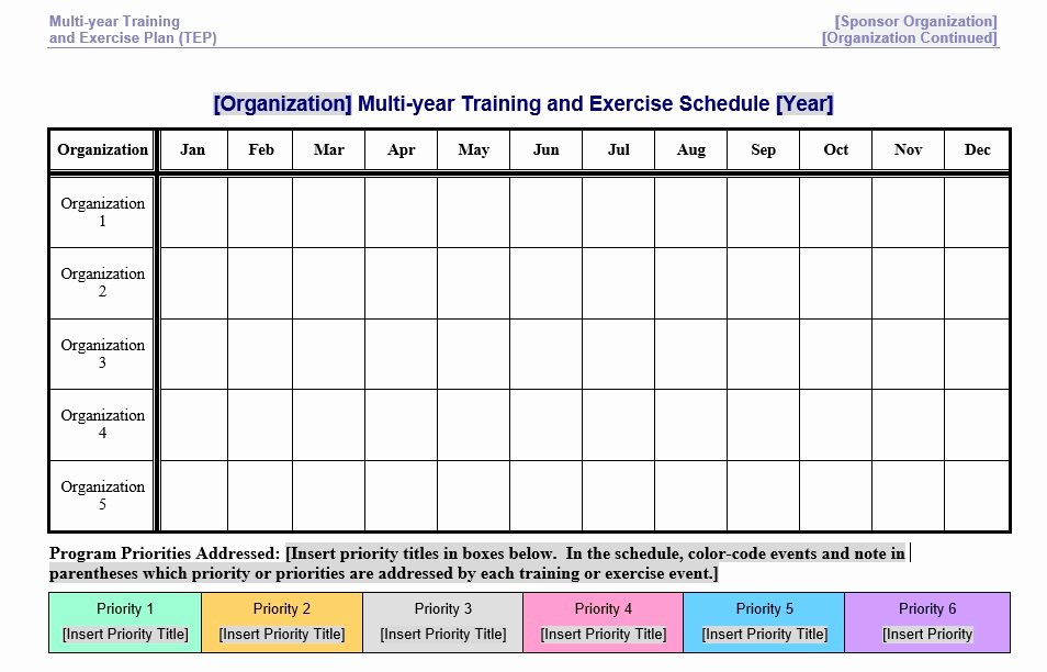 Sample Training Plan Template Unique 8 Free Sample Exercise Schedule Templates Printable Samples