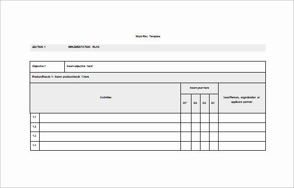 Sample Work Plan Template Fresh 15 Work Plan Templates Free Sample Example format