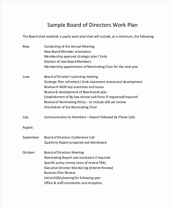 Sample Work Plan Template Fresh Work Plan Template 11 Free Pdf Word Documents Download