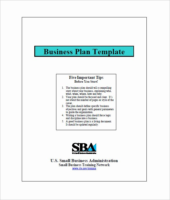 Sba Business Plan Template Awesome Small Business Plan Template 18 Word Excel Pdf Google